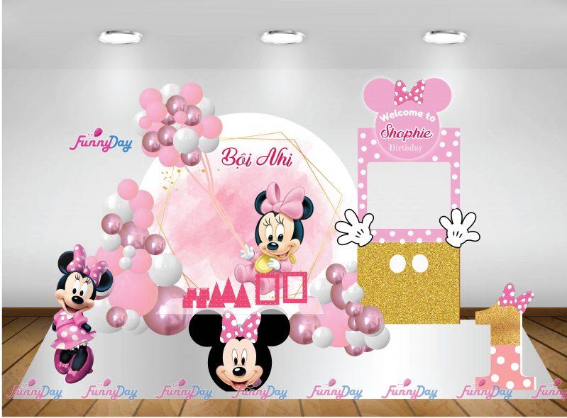 trang trí sinh nhật chủ đề chuột