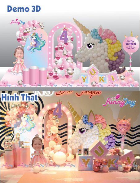 trang trí sinh nhật unicorn