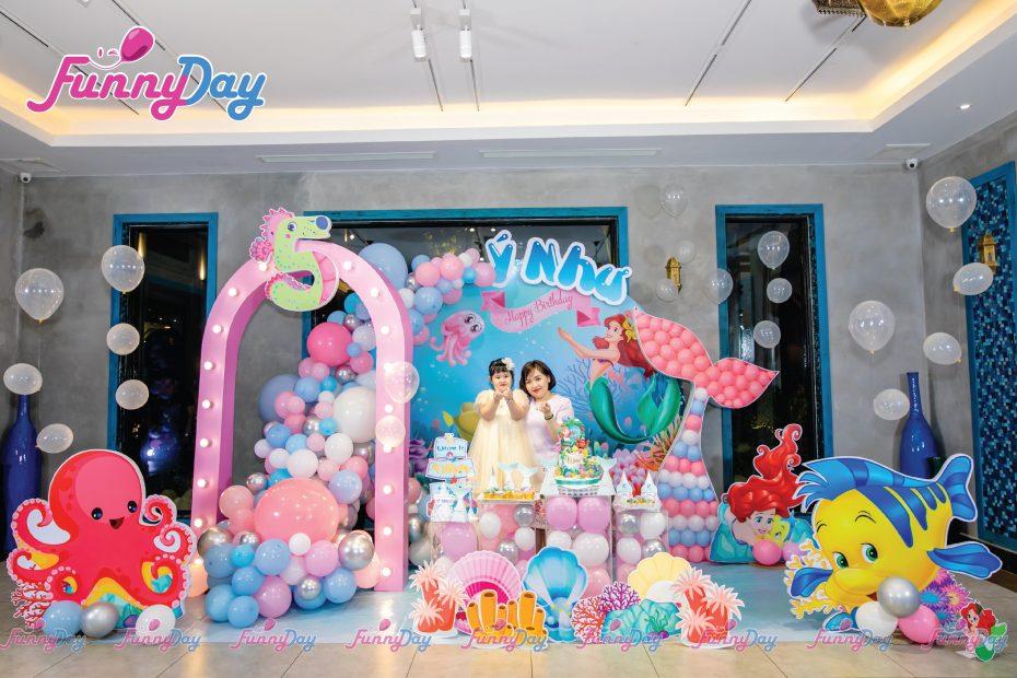 trang trí sinh nhật chủ đề đại dương