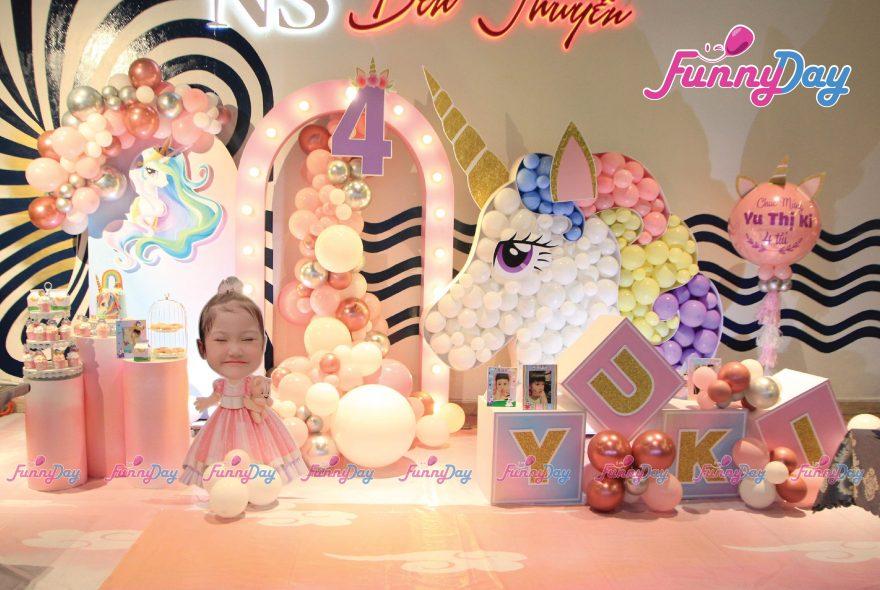 trang trí sinh nhật chủ đề unicorn